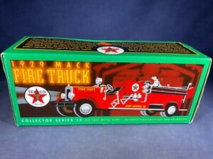 H5-78 ERTL DIE CAST - 1929 MACK FIRE TRUCK - TEXACO PETROLEUM - NIB