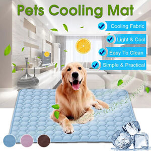 Pet COOLING MAT BED DOG CAT SUMMER HEAT RELIEF NON TOXIC COMFORTABLE CUSHION PAD