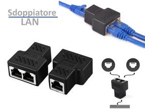 SDOPPIATORE CAVO DI RETE ETHERNET SPLITTER RJ45 LAN SWITCH MODEM ADSL INTERNET
