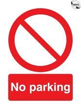 SIGNS & LABELS No Parking Sign - Rigid Polypropylene - 297mm x 210mm FML01950R