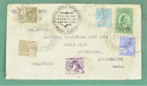 BRAZIL STAMP COVER  CONDOR ZEPPELIN LUFTHANSA TO ENGLAND  (K14)