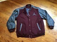 Air Jordan Retro Flight Varsity JacketCoat Leather / Wool. Size XXL. Nice!