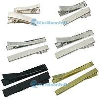 Alligator Teeth Clips Hair bow prong Square 20mm 30mm 45mm 55mm 80mm bb