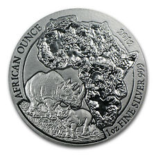 2012 1 oz Silver Rwanda African Rhino Coin - SKU #67243