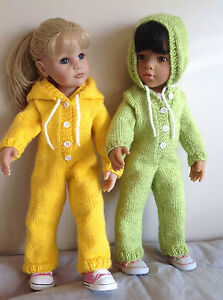 """Dolls  clothes knitting  pattern. 18"""" and  19"""" doll.Trendy All in one suit.KNM68"""
