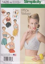 From UK Sewing Pattern Misses' Bra Tops 1950's retro 14-22 #1426