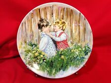 """""""Be My Friend"""" Collector Plate by Mary Vickers Made in England Wedgewood Queen's"""