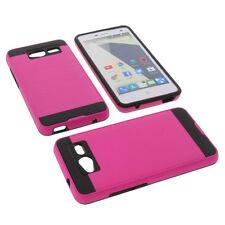 Alu Bumper für ZTE Blade L3 Smartphone Handytasche Schutzhülle TPU Case Pink