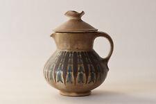 "5.9"" Dybdahl Denmark Pitcher Jug leaf Danish Scandinavian pottery midcentury"