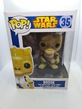 FUNKO POP VINYL! STAR WARS - 35 BOSSK FIGURE ULTRA RARE BLUE BOX