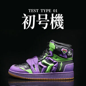 EVANGELION-01 EVA Japan Anime Purple Youth Mens Sneakers Sports Outdoor Shoes