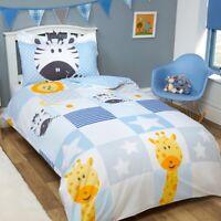 Children Animal Patchwork Duvet Cover Bedding Set and Pillowcase Toddler Single