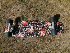 """Penny Board Skateboard Skelton hands and autumn leaves. Pre owned 22"""""""