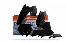 Polisport KTM SX 03-04 Kit De Plástico/SX 125 525 Exc 04 Todo Negro 90194 Motocross