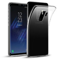 For Samsung Galaxy S8 S9 Plus Case Clear Gel Ultra Thin TPU Transparent Cover DE
