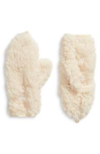 NWT Girl's Tucker + Tate Faux Fur Flip Top Mitten Ivory Egeret One Size