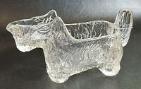 Vintage Clear Glass Scottie Terrier Dog Creamer/Candy Dish