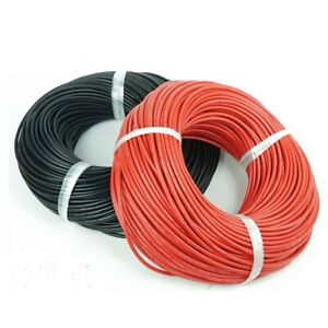 30 AWG Gauge Wire 50 ft. RED And 50 ft. Black total 100 ft USA SOLD/SHIP