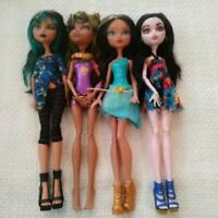 Monster High Dolls Lot of 4 Girls 11 Inches Clothed