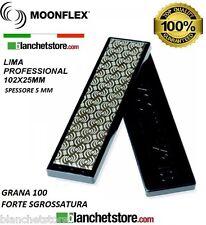 Diaface Moonflex lima diamantata PVC mm 100 Grana 100 NERO-102x25 sci e snow