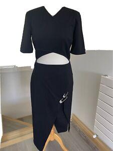Gianni Versus Versace Ladies Black High Low Dress Size 44
