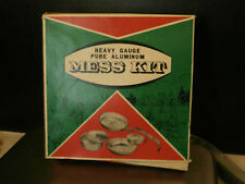 VINTAGE 5pc NOS  EXETER MESS KIT HEAVY GAUGE PURE ALUNINUM