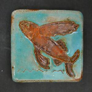 Pewabic Antique Tile with Fish