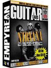 Nirvana Guitar Tabs CD-R Digital Lessons Software Win Mac Kurt Cobain Grunge