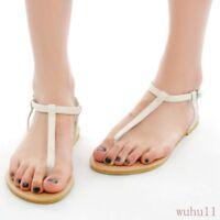 Hot Summer Boho Lady's Floral Flip Flops Thong Sandals Flats Beach Shoes 4-12