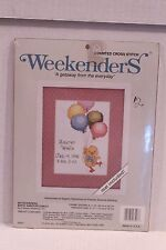 Birth Announcement Counted Cross Stitch Kit Duck Balloons Weekenders Skyscrapers