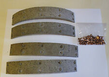 AUSTIN A40 DEVON SOMERSET DORSET 1948 - 1954 FRONT BRAKE LININGS (NJ283A)
