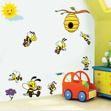 Bee Decal Cartoon Animal Wall Sticker Nursery Kids Room Art Mural Decal Removal