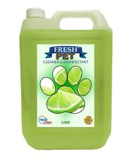 Fresh Pet Cleaner Deodoriser - Paw friendly, kills 99.9% germs 5L - Lime