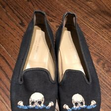 Men's Stubbs and Wootton shoes slipper size 11 skull design