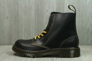 65 New Rare Dr. martens Womens US 7 Black leather 1460 pascal Yellow Lace