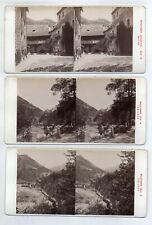 AK-1615/ 3 x Schloß Runkelstein Südtirol Stereofoto v Alois Beer ~ 1900