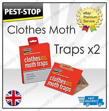 Arresto dei parassiti Abiti Moth Trap 2 Pack Nessun Odore Guardaroba Sticky inosservato facile da usare