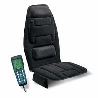 Black Memory Foam Lumbar Back Support Massage Cushion w/ Heat for Chair Home Car
