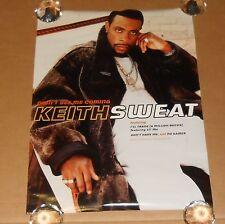 Keith Sweat Didn't See Me Coming Promo 2000 Original Poster 24 x 18