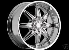 "22"" Chrome Viscera 529 Wheels 5 LUG FWD only"