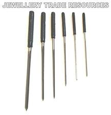SET OF 6 CLOCK CUTTING BROACHES SET 2.4mm - 6.2mm FOR BUSHING ,SERVICE & REPAIRS