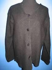Ice Black Boiled Wool Cardigan Sweater Jacket S