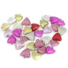 30pcs GLITTER CHRISTMAS JINGLE BELL CHARMS PENDANT CRAFT HOBBY JEWELLERY