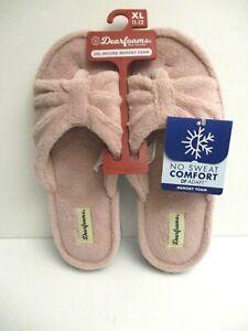 Dearfoams Women's Molded gel infused Slippers size XL 11-12 Pink
