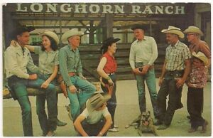 Postcard NM Longhorn Ranch Advertising ROUTE 66 East of Albuquerque, New Mexico