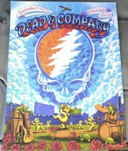 2021 Dead and Company Chicago Wrigley Field Poster 9-17 And 9-18