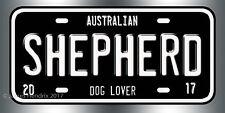Australian Shepherd Dog Breed License Plate  Red Blue Green Yellow Black