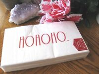 "New Rae Dunn ""Ho Ho Ho"" Paper Guest Towels Large Napkins 13""x15 3/4""-- 32 ct."