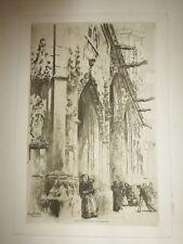 "6 -  Edgar CHAHINE, eau-forte (etching) "" St. Germain L'Auxerrois "" - 1902"