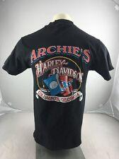 Vintage Archies Harley Davidson Columbus Georgia  shirt mens Large USA 3D Rebel